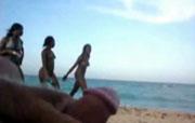 rukken op het strand
